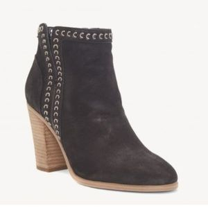Vince Camuto Black Finchie Leather Chain Bootie